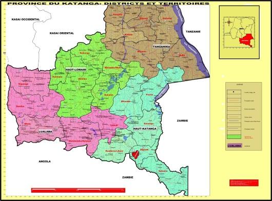 les 4 provinces du grand Katanga