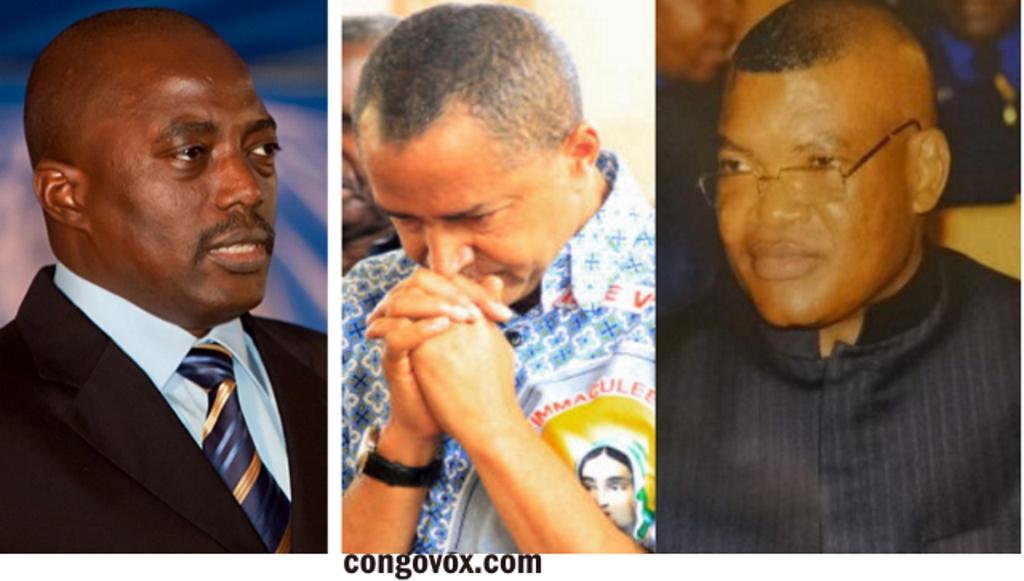 Joseph Kabila, Moise Katumbi et kalev Mutond (ANR)